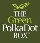 green polka dot box